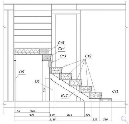 Чертежи лестницы из сэндвич-панелей фото 04