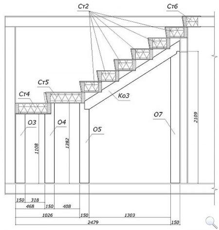 Чертежи лестницы из сэндвич-панелей фото 06