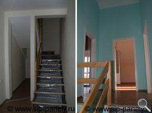 Изготовление лестницы из сэндвич-панелей фото 01