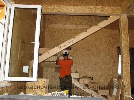 Изготовление лестницы из сэндвич-панелей фото 11