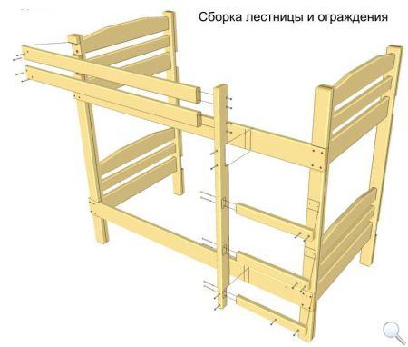 Как сделать двухъярусную кровать. Чертежи фото 08
