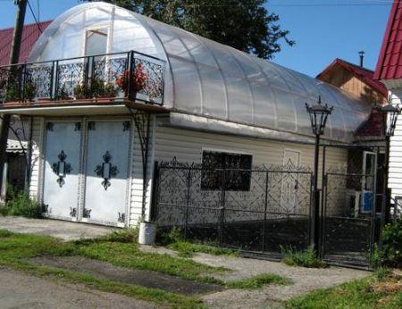 Крыша из поликарбоната фото 03