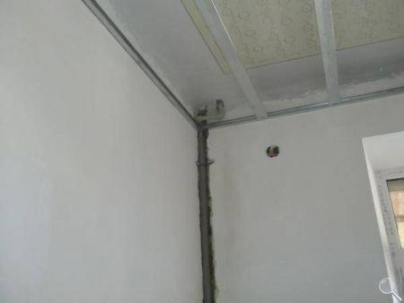Монтаж потолка из гипсокартона фото 02