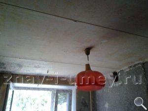 Ремонт потолка на кухне фото 01