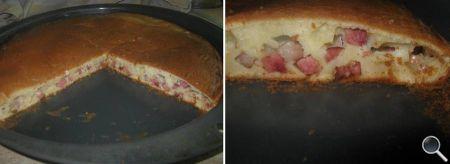 """Заливной пирог с колбасой """"бобат"""" фото 08"""