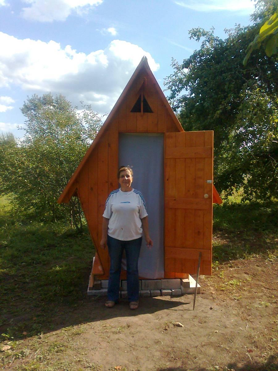 Сделать туалет на даче своими руками фото размеры