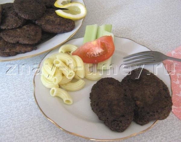 котлеты из печени с геркулесом рецепт с фото