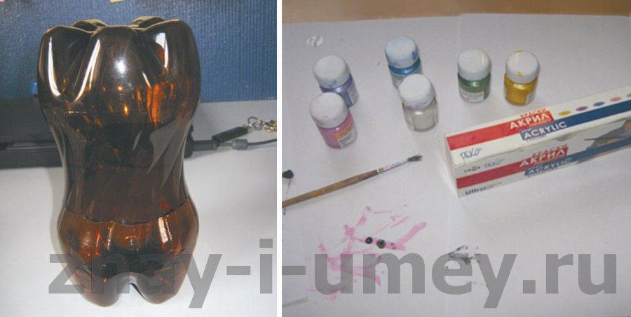 Как сделать пингвина из пластиковых бутылок фото 03.
