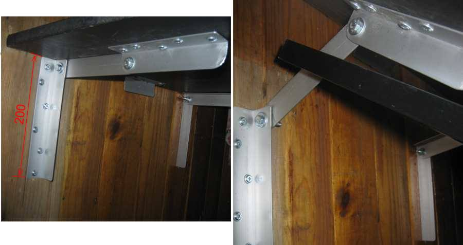 Как сделать откидной от стенки стол.