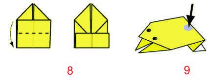 Оригами Лягушка 8-9