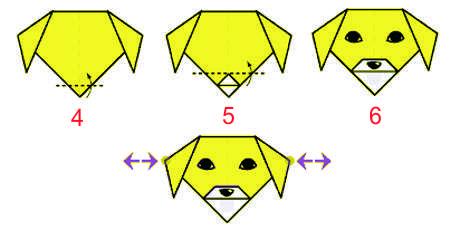 Оригами из бумаги собака и кошка