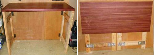 Складной стол в гараж своими руками 18