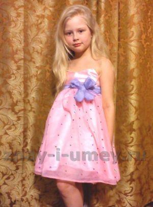Выпускной бал в детском саду. Вечернее платье для девочки своими руками