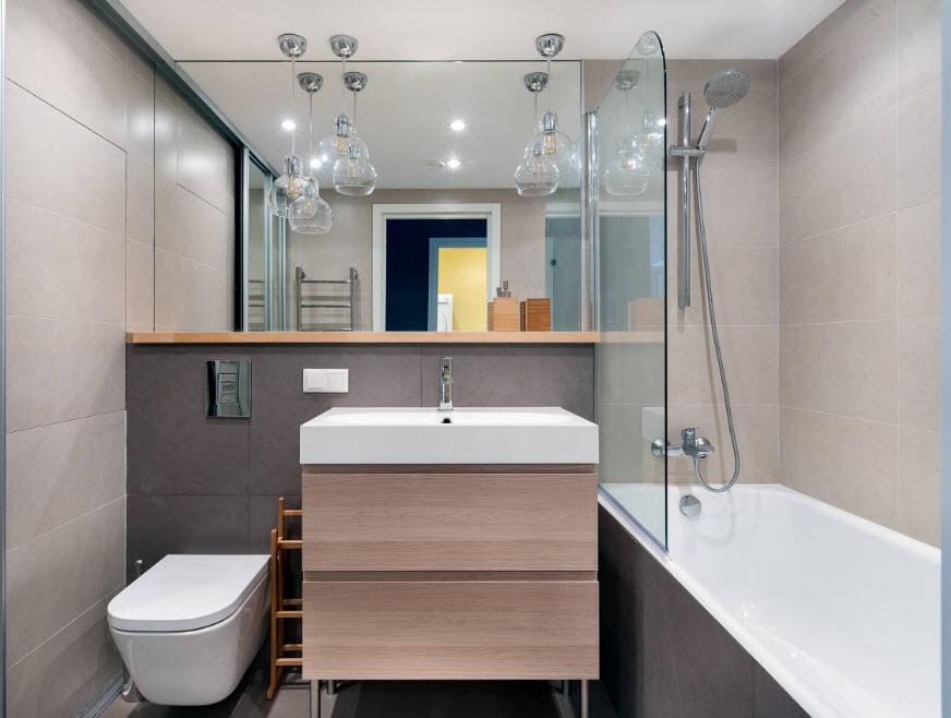Дизайн ванной комнаты в три квадратных метра